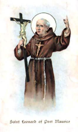 26. studeni - sveti Leonardo portomauricijski, svećenik OFM