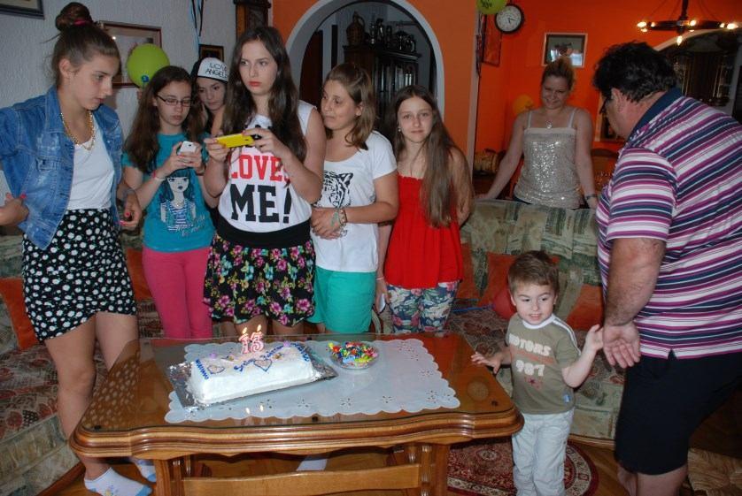 rođendan Klaudie Kandrać u obitelji Nanut