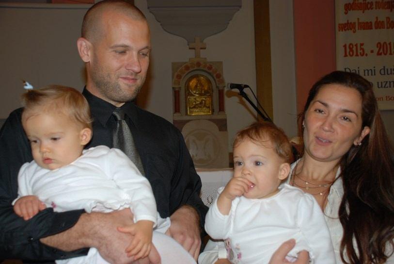 3. listopada 2015. krštenje Lucije i Eve Juričić