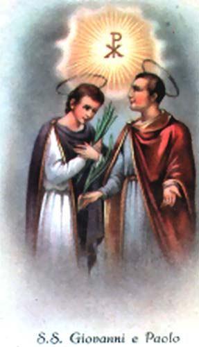 26. lipnja - Sveti Ivan i Pavao, mučenici