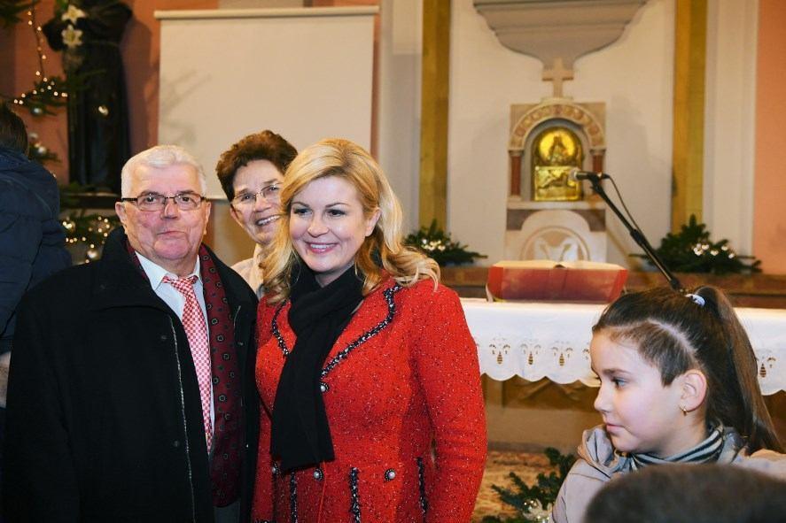 Predsjednica Republike Hrvatske na Polnoćki na Kantridi