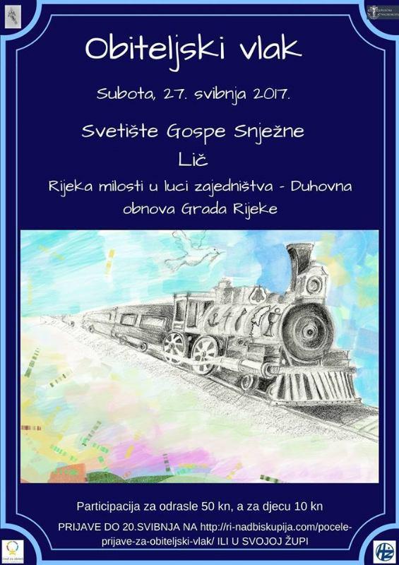 Subotu 27. svibnja 2017. - Duhovna obnova grada Rijeke u Liču