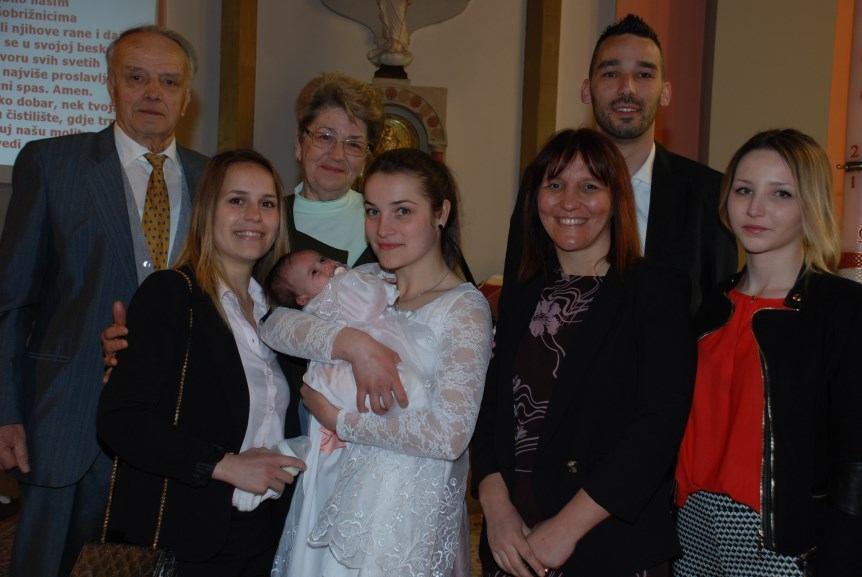 23. travnja 2017. - Krštenje Veronike Martinović na Kantridi