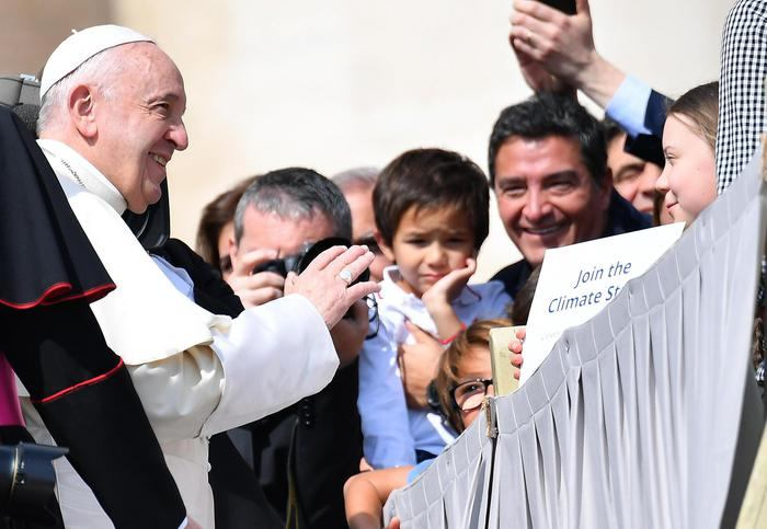 31. srpnja 2019. - srijeda - Došli su s krajeva svijeta pozdraviti papu Franju.