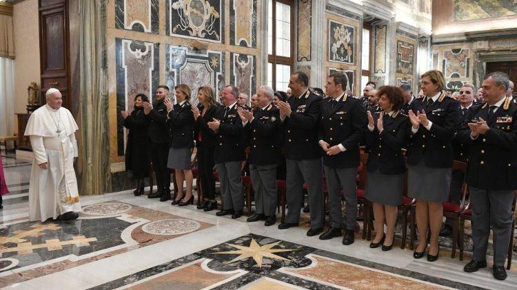 8. veljače 2020. - Papa primio Inspektorat javne sigurnosti u Vatikanu