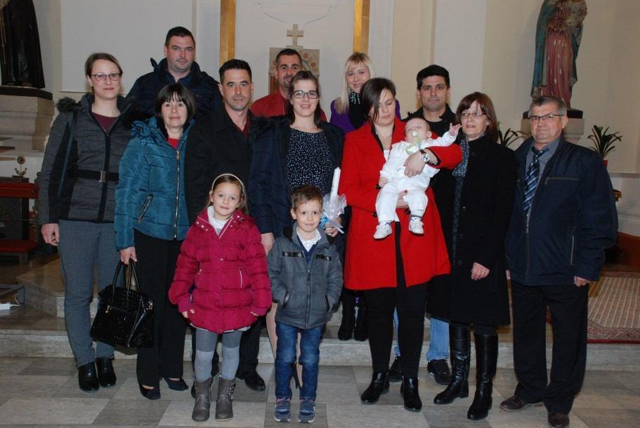 1. ožujka 2020. - Krštenje Davida Štemberger na Kantridi