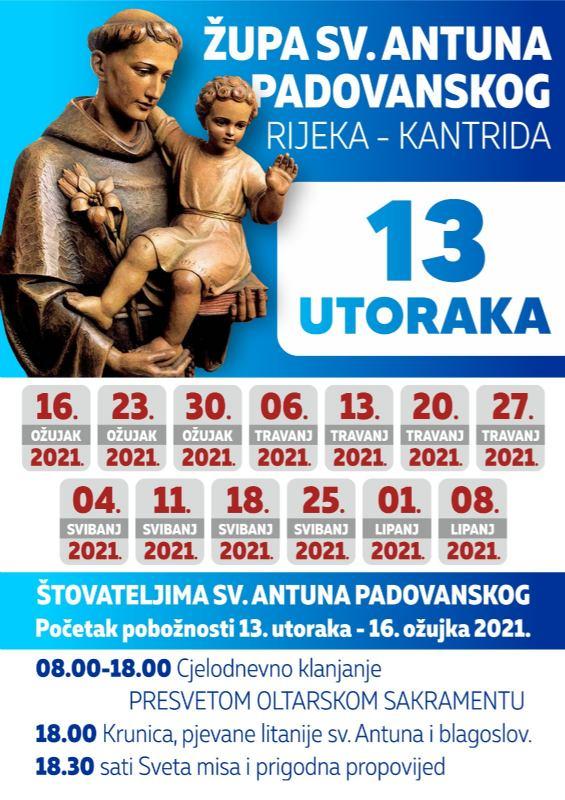 13.utoraka sv. Antunu 2021.