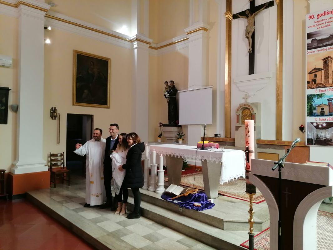 21. veljače 2021. - Krštenje Magdalene Martinović