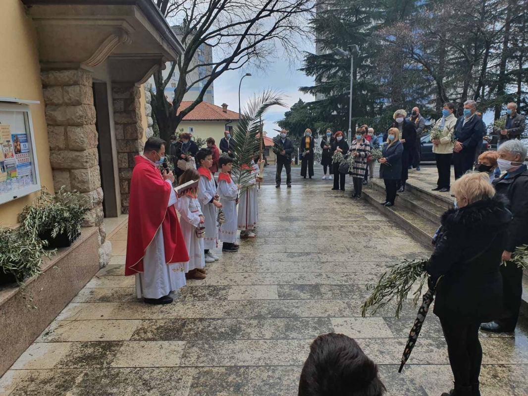 Svečano proslavljena Cvjetnica - Nedjelja Muke Gospodnje na Kantridi